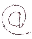 Muestra oxidada del alambre de púas @ Fotografía de archivo libre de regalías