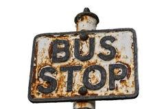 Muestra oxidada del autobús Foto de archivo libre de regalías