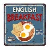 Muestra oxidada del metal del vintage del desayuno inglés Foto de archivo