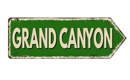 Muestra oxidada del metal del vintage de Grand Canyon stock de ilustración