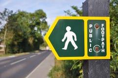 Muestra pública de la senda para peatones fotografía de archivo