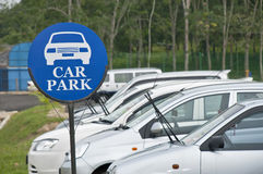 Muestra pública del aparcamiento Imagen de archivo libre de regalías