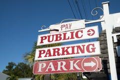 Muestra pública del estacionamiento Imagen de archivo libre de regalías