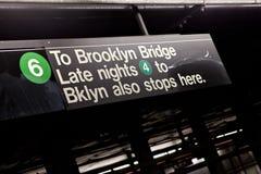 Muestra del subterráneo de Brooklyn NYC imagenes de archivo