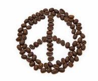 Muestra pacífica hecha de los granos de café Imagen de archivo libre de regalías