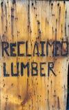 Muestra para la madera de construcción reclamada Fotografía de archivo libre de regalías