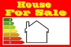 Muestra para los agentes inmobiliarios Casa para la venta fotos de archivo