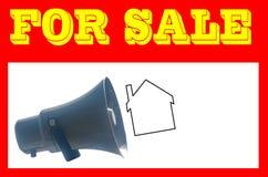 Muestra para los agentes inmobiliarios Casa para la venta imagen de archivo