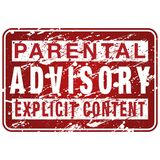 Muestra parental de la etiqueta consultiva Imagen de archivo libre de regalías