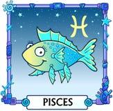 Muestra Piscis del zodiaco Fotografía de archivo