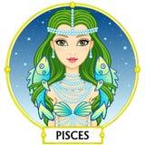 Muestra Piscis del zodiaco Imágenes de archivo libres de regalías