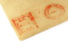 Muestra postal en un sobre Foto de archivo libre de regalías