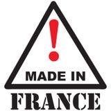 Muestra - precaución hecha en Francia Fotos de archivo