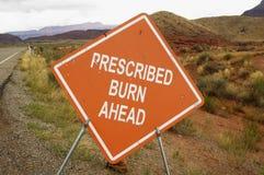 Muestra prescrita de la quemadura Imágenes de archivo libres de regalías