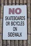 Muestra prohibida bicicletas Fotografía de archivo libre de regalías