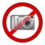 Muestra prohibida fotografía Foto de archivo