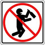 Muestra prohibida gente borracha y de consumición del vector Foto de archivo