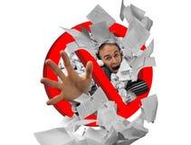 Muestra prohibida papeleo Imágenes de archivo libres de regalías