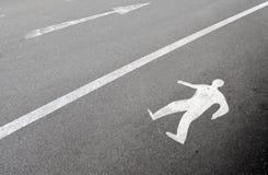 Muestra que recorre peatonal Fotografía de archivo