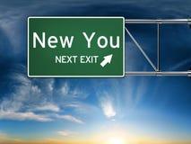 Nuevo usted salida siguiente Foto de archivo