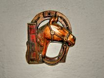 Muestra rústica del metal del caballo Fotografía de archivo libre de regalías