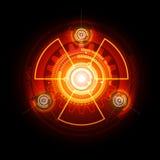 Muestra radiactiva que brilla intensamente ilustración del vector