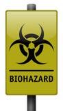 Muestra realista del Biohazard Foto de archivo