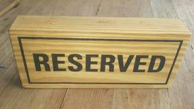 Muestra reservada de madera Imágenes de archivo libres de regalías