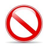 Muestra restricta en blanco stock de ilustración