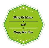 Muestra retra de la Feliz Navidad Imagen de archivo libre de regalías