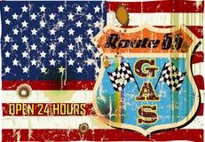 muestra retra de la gasolinera de la ruta 66 libre illustration