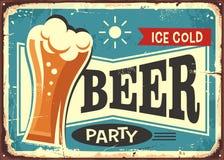 Muestra retra del pub del partido de la cerveza ilustración del vector