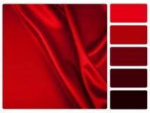 Muestra roja de la paleta de color del satén libre illustration