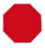 Muestra roja del espacio en blanco del octágono Imagenes de archivo