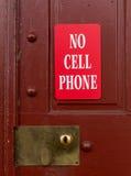 Muestra roja para ningún uso del teléfono celular Imagen de archivo libre de regalías