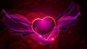 Muestra romántica del corazón del amor Fotografía de archivo