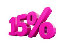 Muestra rosada del 15 por ciento Imagenes de archivo