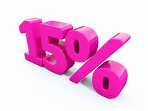 Muestra rosada del 15 por ciento Fotos de archivo libres de regalías