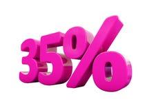 Muestra rosada del 35 por ciento stock de ilustración