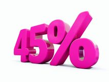 Muestra rosada del 45 por ciento Libre Illustration
