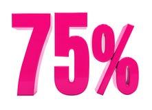 Muestra rosada del 75 por ciento Imagen de archivo