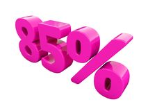 Muestra rosada del 85 por ciento libre illustration
