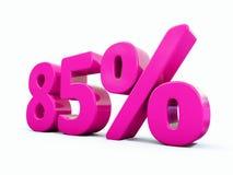 Muestra rosada del 85 por ciento stock de ilustración