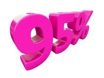 Muestra rosada del 95 por ciento Imágenes de archivo libres de regalías