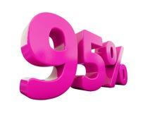 Muestra rosada del 95 por ciento Imagen de archivo