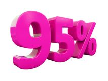 Muestra rosada del 95 por ciento Fotografía de archivo