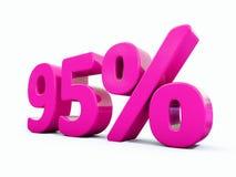 Muestra rosada del 95 por ciento Foto de archivo