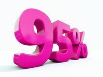 Muestra rosada del 95 por ciento Imagenes de archivo