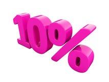 Muestra rosada del 10 por ciento Fotografía de archivo libre de regalías