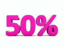 Muestra rosada del 50 por ciento stock de ilustración